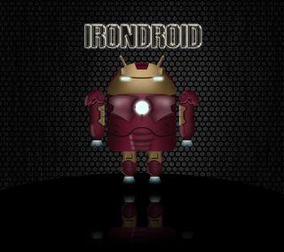 Обои на телефон робот, железный человек, железный, дроид, андроид, iron android, android