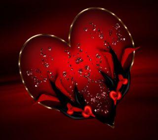 Обои на телефон черные, сердце, любовь, красые, день, 2160x1920px, love