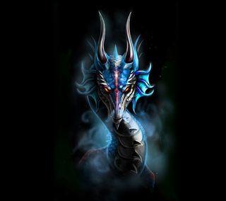 Обои на телефон зверь, синие, животные, дракон, абстрактные, dragon, blue dragon