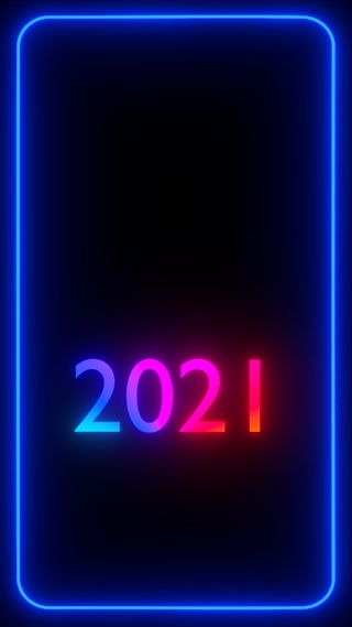 Обои на телефон черные, темные, счастливые, синие, свет, рамка, новый, неоновые, каникулы, граница, грани, neon frame, 2021 frame, 2021