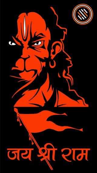 Обои на телефон хануман, тема, темные, jai hanuman