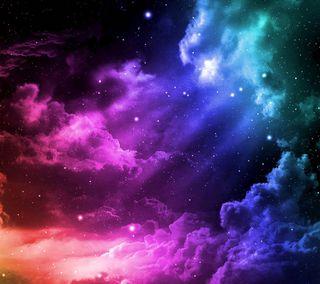Обои на телефон цветные, облака, небо, звезда, абстрактные, abstract sky