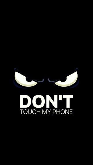 Обои на телефон черные, телефон, просто, предупреждение, не, логотипы, do