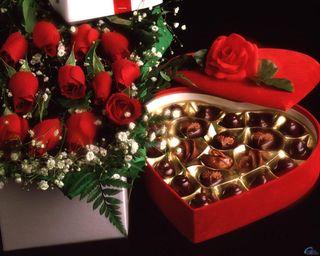 Обои на телефон подарок, розы, любовь, love, gift with love, chocolates