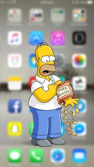 Обои на телефон оригинальные, эпл, экран, симпсоны, apple
