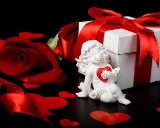 Обои на телефон коробка, сердце, романтика, розы, любовь, валентинка, love