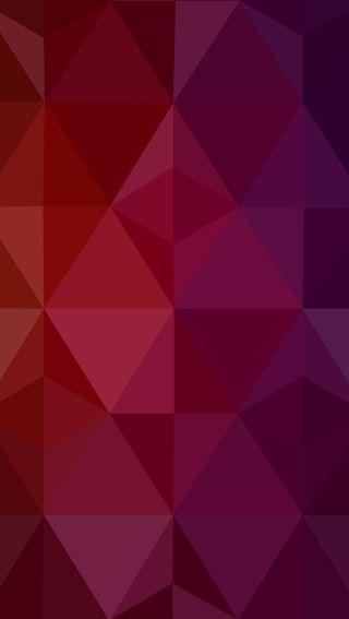 Обои на телефон геометрические, фиолетовые, красые, triangular