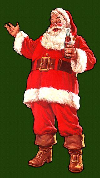 Обои на телефон санта, рождество, праздник, кока кола