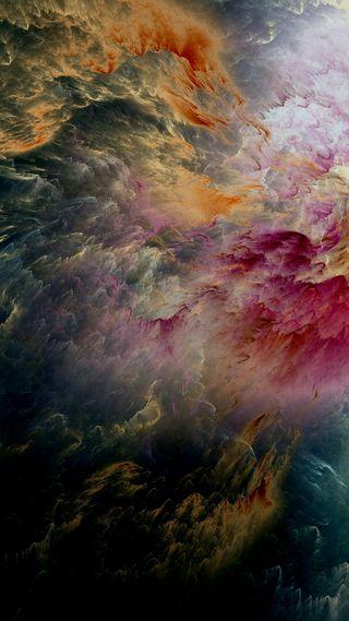 Обои на телефон облака, цветные, темные, абстрактные, color clouds