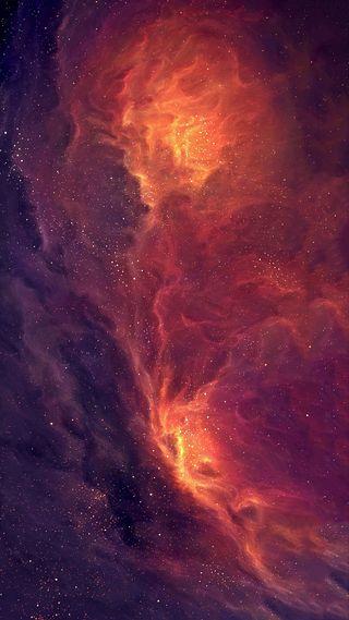 Обои на телефон galaxies, galaxy, vast, галактика, космос, звезды, оранжевые, туманность, наука