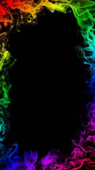 Обои на телефон рамка, дым, любовь, красочные, love