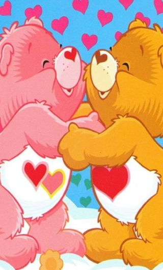Обои на телефон забота, мультики, медведь, любовь, love, care bear