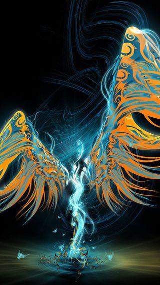 Обои на телефон крылья, цветные