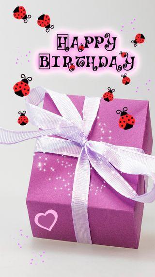 Обои на телефон подарок, фиолетовые, текст, счастливые, сказать, сердце, любовь, логотипы, леди, каникулы, знаки