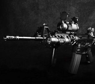 Обои на телефон современные, оружие, м4, военные, армия, carabine