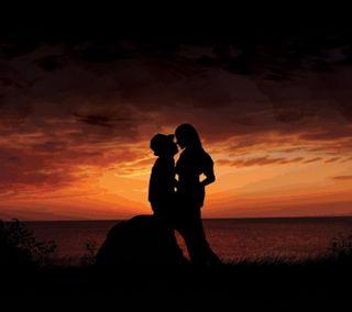 Обои на телефон чувства, вечер, романтика, природа, пара, любовь, закат, togetherness, love, couple at sunset