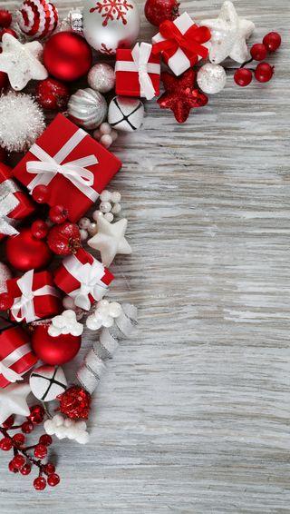 Обои на телефон украшение, рождество, подарки, безделушки