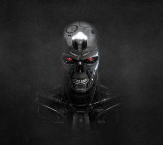 Обои на телефон терминатор, скелет, голливуд, череп, рисунок, мультфильмы, terminator skeleton