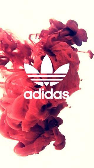 Обои на телефон рисунки, логотипы, красые, бренды, адидас, adidas