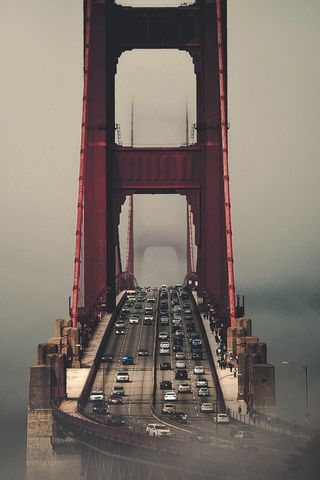 Обои на телефон мост, ворота, гиганты