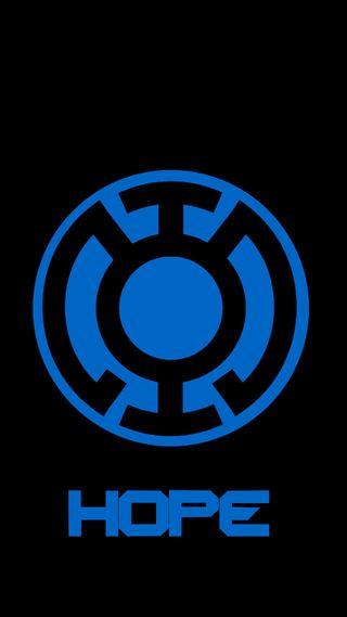 Обои на телефон фонарь, синие, надежда, power
