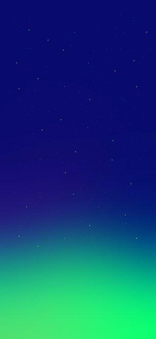 Обои на телефон ночь, небо, космос, зеленые, звезды, галактика, вселенная, galaxy