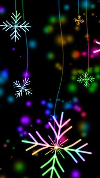 Обои на телефон снежинки, мечта, цветные, фиолетовые, color snowflakes