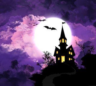 Обои на телефон ужасные, хэллоуин, фон, дом, hd