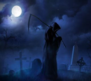 Обои на телефон жнец, ужасы, темные, ночь, мрачные, луна, dark grim reaper