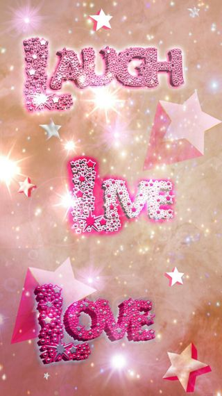 Обои на телефон смех, розовые, любовь, звезды, блестящие, love, live, laugh live and love, dazzle