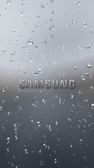 Обои на телефон самсунг, логотипы, капли, грани, галактика, вода, samsung, s7, s6, s5, raindrop, galaxy, 2017