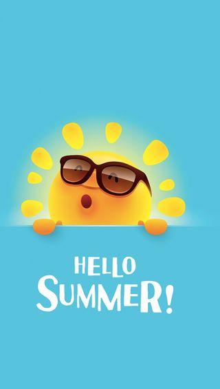 Обои на телефон привет, лето, hello