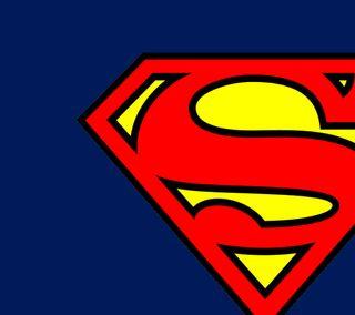 Обои на телефон стальные, супермен, синие, логотипы, красые, желтые, red yellow