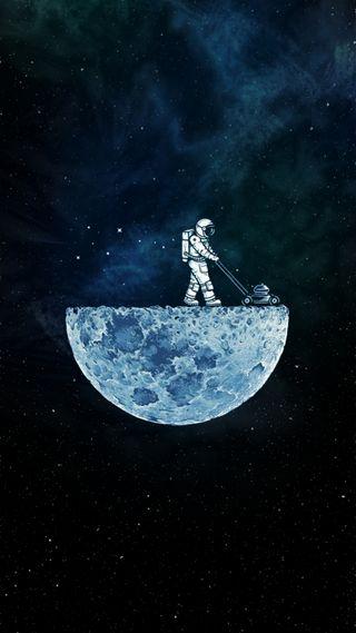 Обои на телефон космонавт, луна, космос, забавные, moon man