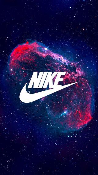 Обои на телефон туманность, ночь, найк, логотипы, космос, звезды, галактика, бренды, nike, galaxy, air