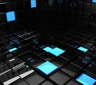 Обои на телефон куб, комната, квадратные, абстрактные, corner, 3д, 3d