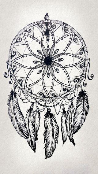 Обои на телефон панк, чернила, хипстер, татуировки, тату, ловец снов, крутые, дизайн, арт, zedgetat1, dreamcatcher design, art
