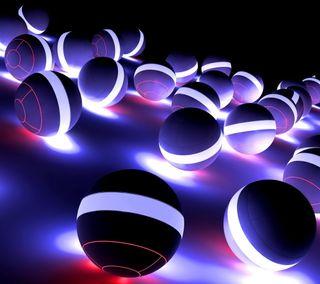 Обои на телефон шары, черные, свет