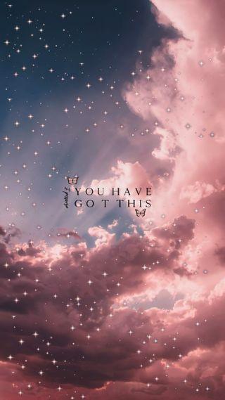 Обои на телефон эстетические, фраза, сам, розовые, милые, любовь, звезды, nubes, mariposas, love myself, hd, brillos