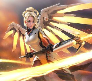 Обои на телефон игра, доктор, герой, ангел, overwatch, mercy, angela mercy