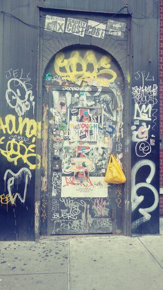 Обои на телефон улица, привет, нью йорк, новый, граффити, город, винтаж, hello