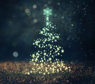 Обои на телефон каникулы, рождество, новый, дерево, боке, 2017