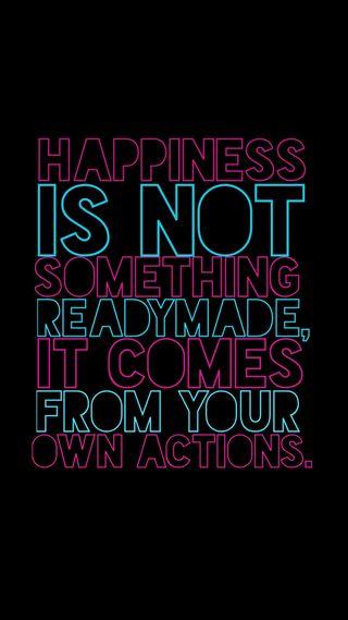 Обои на телефон счастье, цитата, жизнь, высказывания, happiness wallpapper, actions