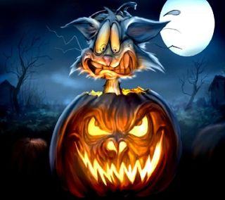 Обои на телефон тыква, хэллоуин, угощение, счастливые, праздник, обманывать
