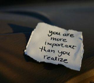 Обои на телефон сообщение, чувства, ты, слова, любовь, высказывания, you are important, realise, note, love, important