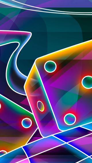 Обои на телефон странные, светящиеся, неоновые, куб, игральные кости, абстрактные, trippy dice, 3д, 3d