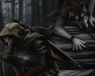 Обои на телефон готические, черные, череп, темные, смерть, ночь, волк, wold