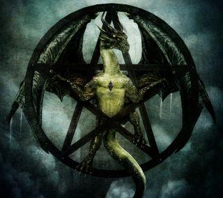 Обои на телефон ящерица, дрейк, темные, пентаграмма, змея, змеевидный, дракон, dragon, draconian