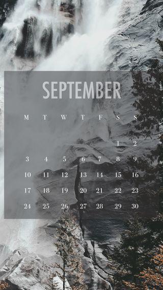 Обои на телефон сентябрь, падает, календарь, zcalsep18, falls sep