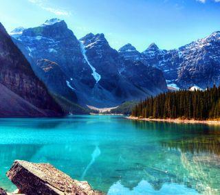Обои на телефон небо, природа, прекрасные, озеро, красочные, горы, вид, lake view hd, hd